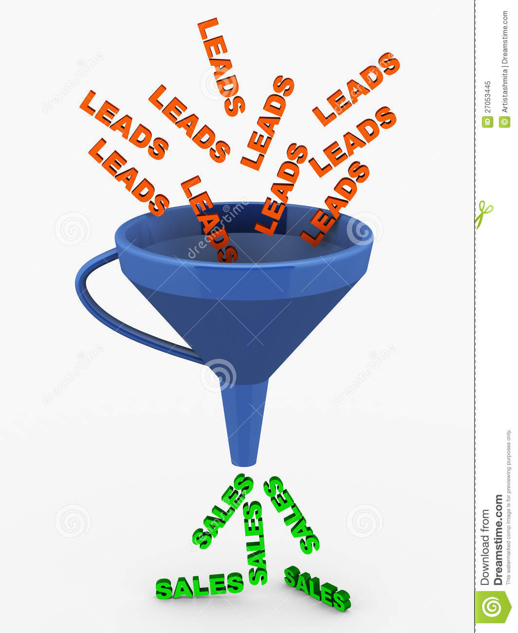 Leads Sales Funnel Royalty Free Stock Photo Image 27053445