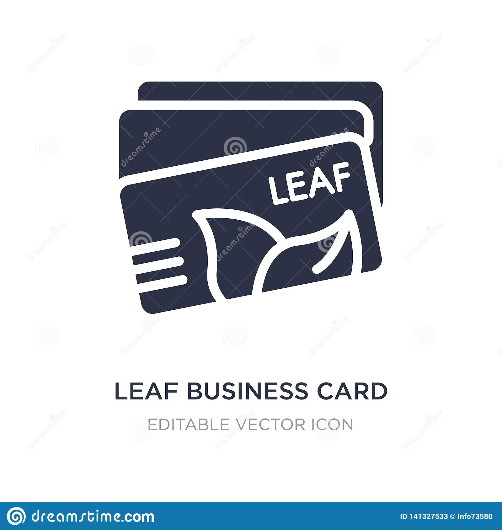 leaf business card icon on white background. Simple element illustration from Other concept