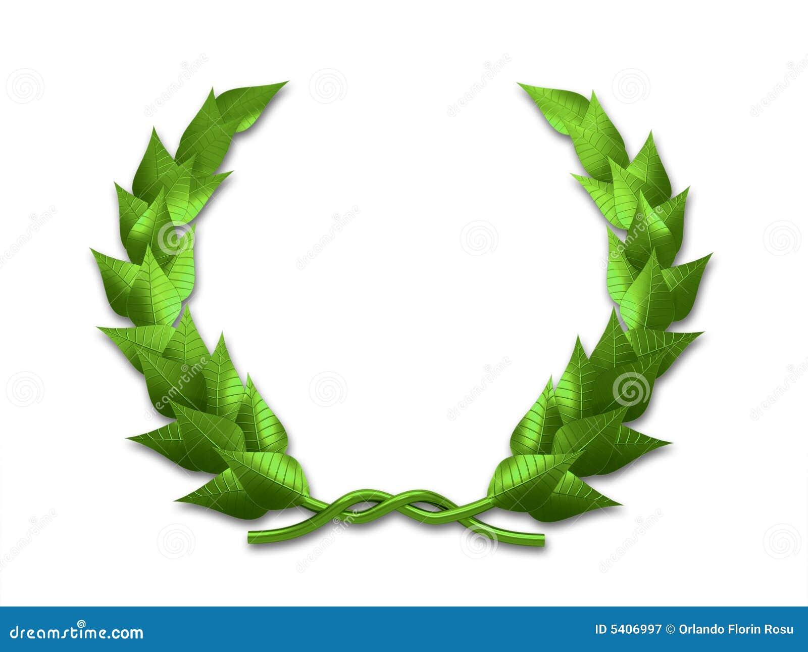 green leaf crest on wh...