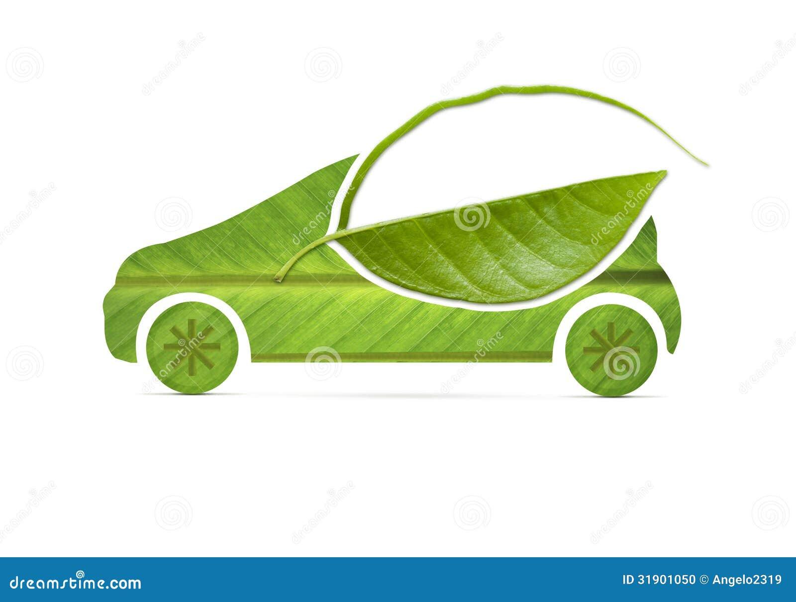 Leaf Eco Car Royalty Free Stock Images - Image: 15551149