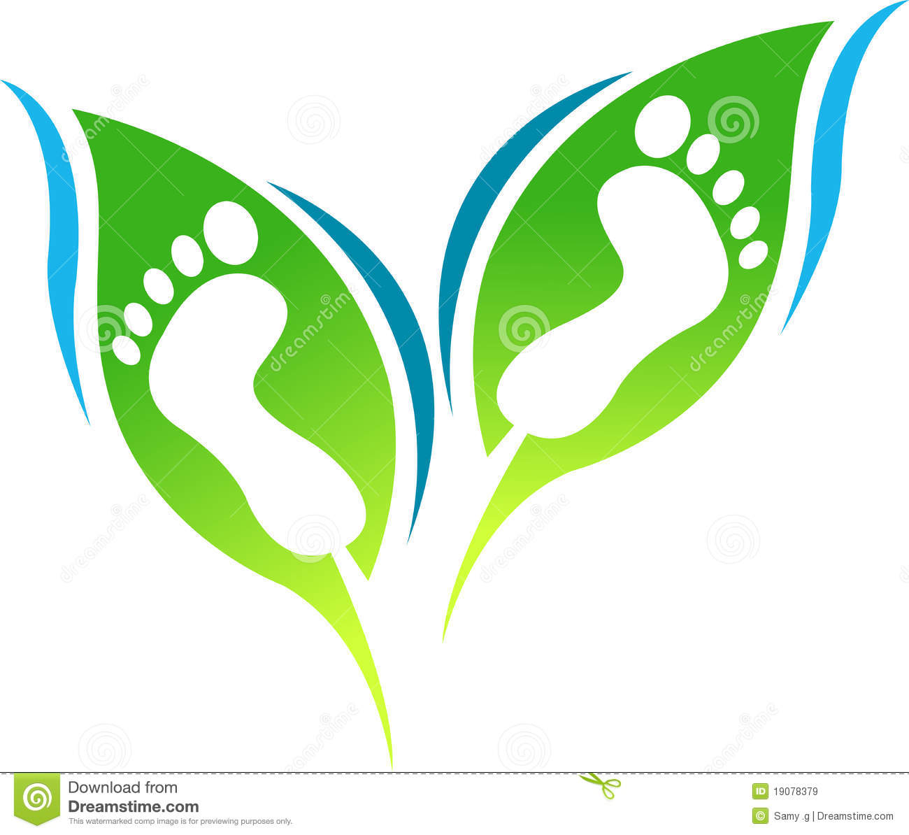 Leaf Foot Print Royalty Free Stock Images Image 19078379