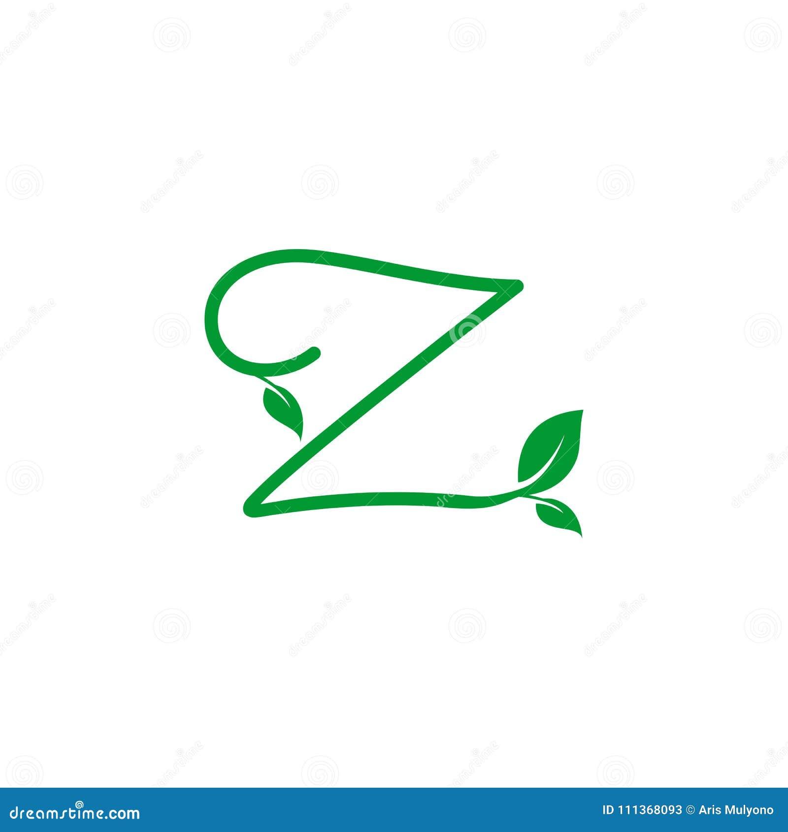 Leaf Initials Logo Concept Stock Illustration Illustration Of