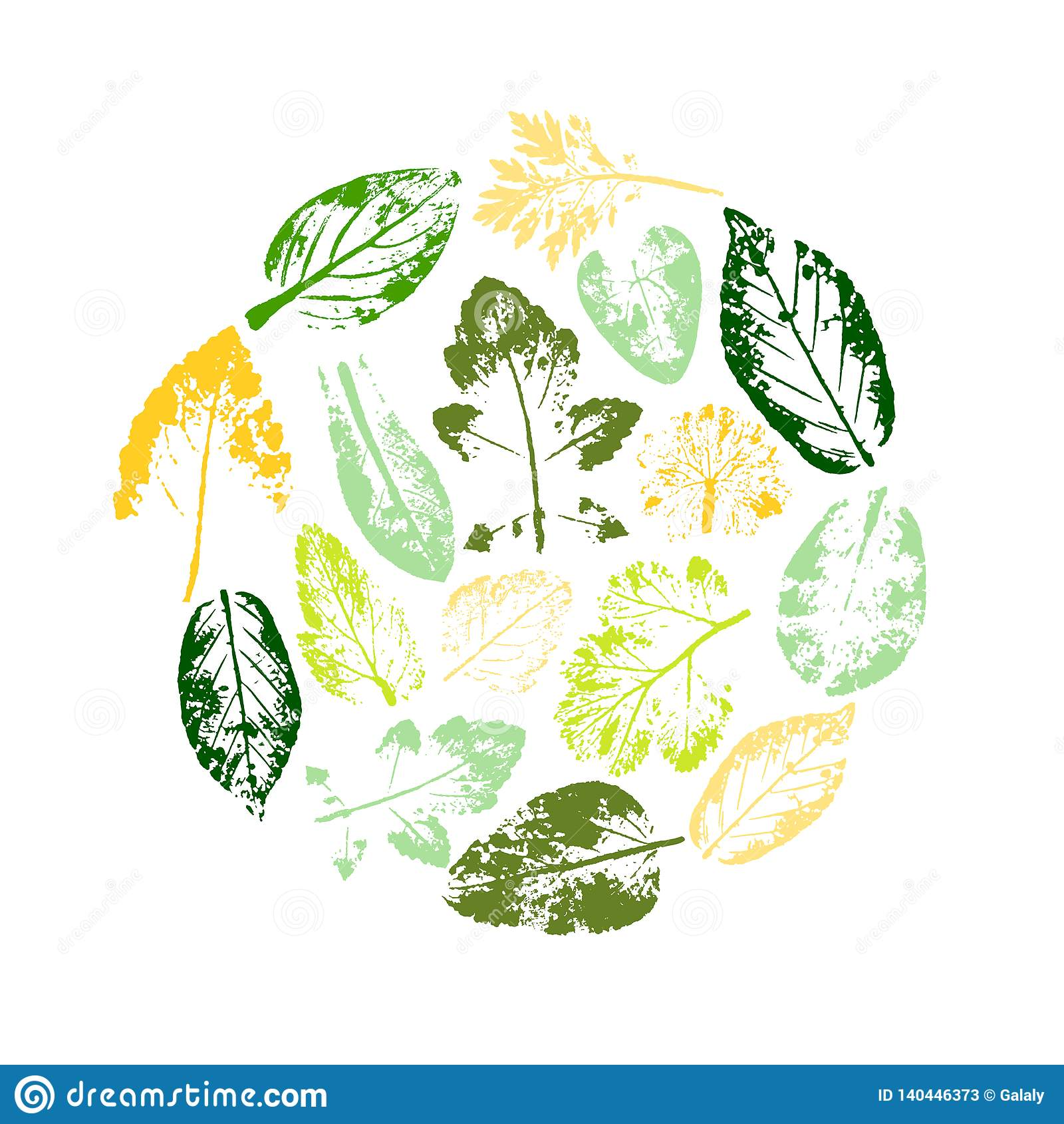 Leaf Line Icon Set  Fertility And Growth Symbol  Stock