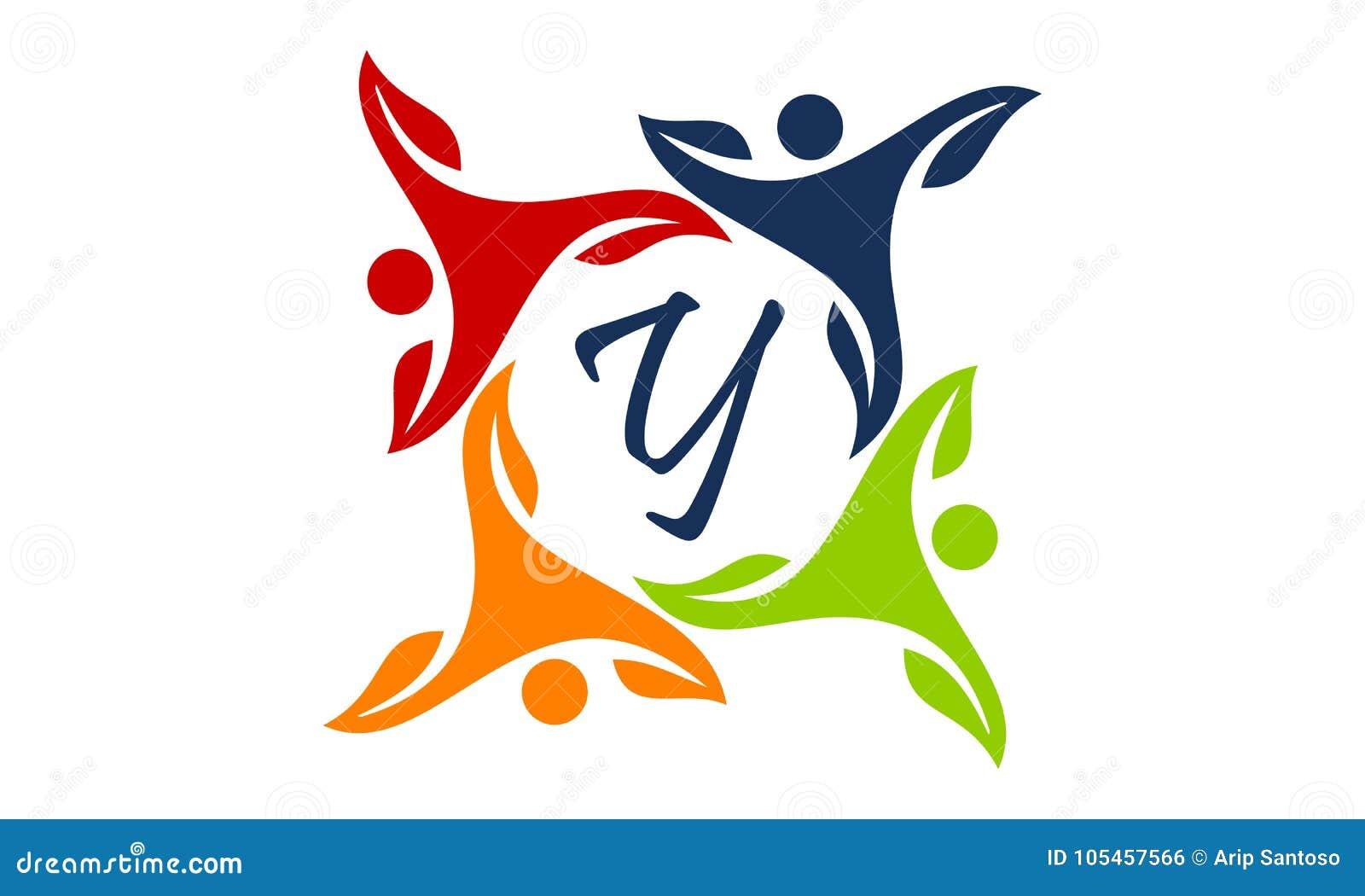 leaf people health together letter y