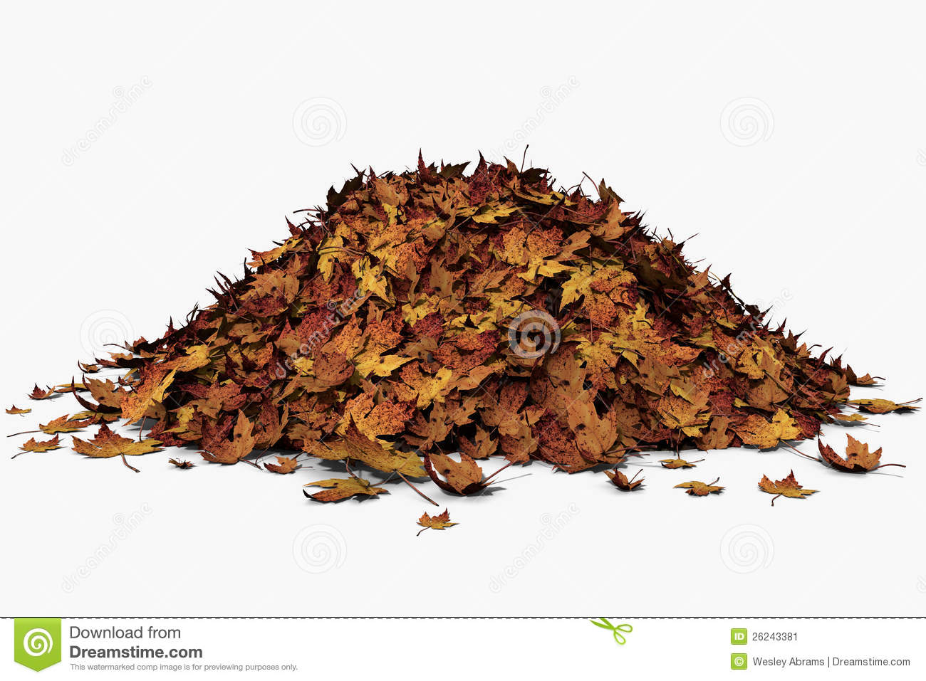 leaf pile stock illustration illustration of orange 26243381. Black Bedroom Furniture Sets. Home Design Ideas