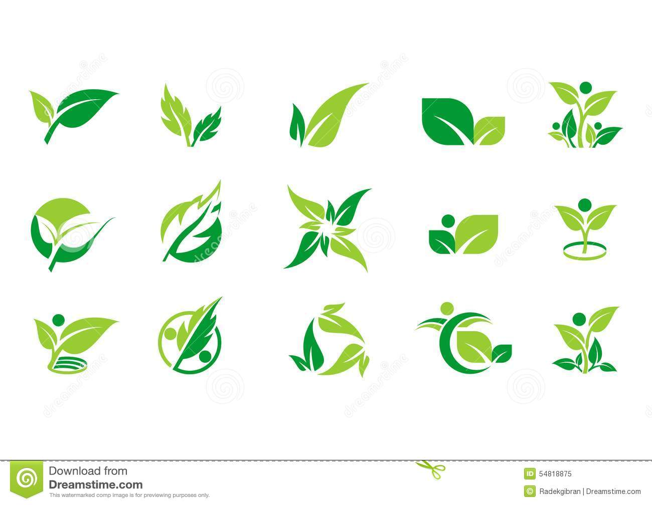 Download Leaf,plant,logo,ecology,people,wellness,green,leaves,nature Symbol Icon Set Of Vector Designs Stock Vector - Illustration of ecology, food: 54818875