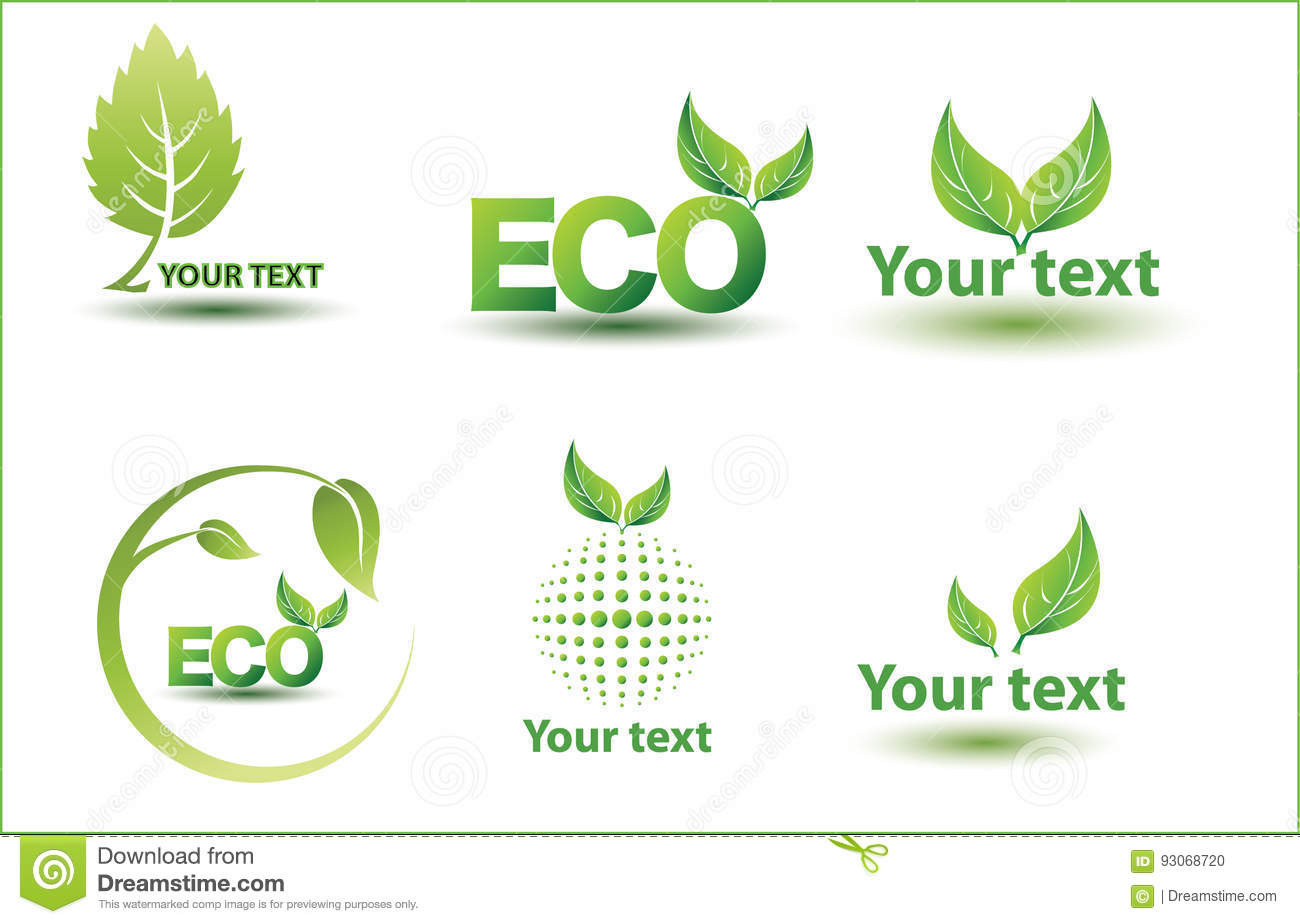 Leaf, plant, logo, ecology, people, wellness, green, leaves, nature symbol icon set of vector designs