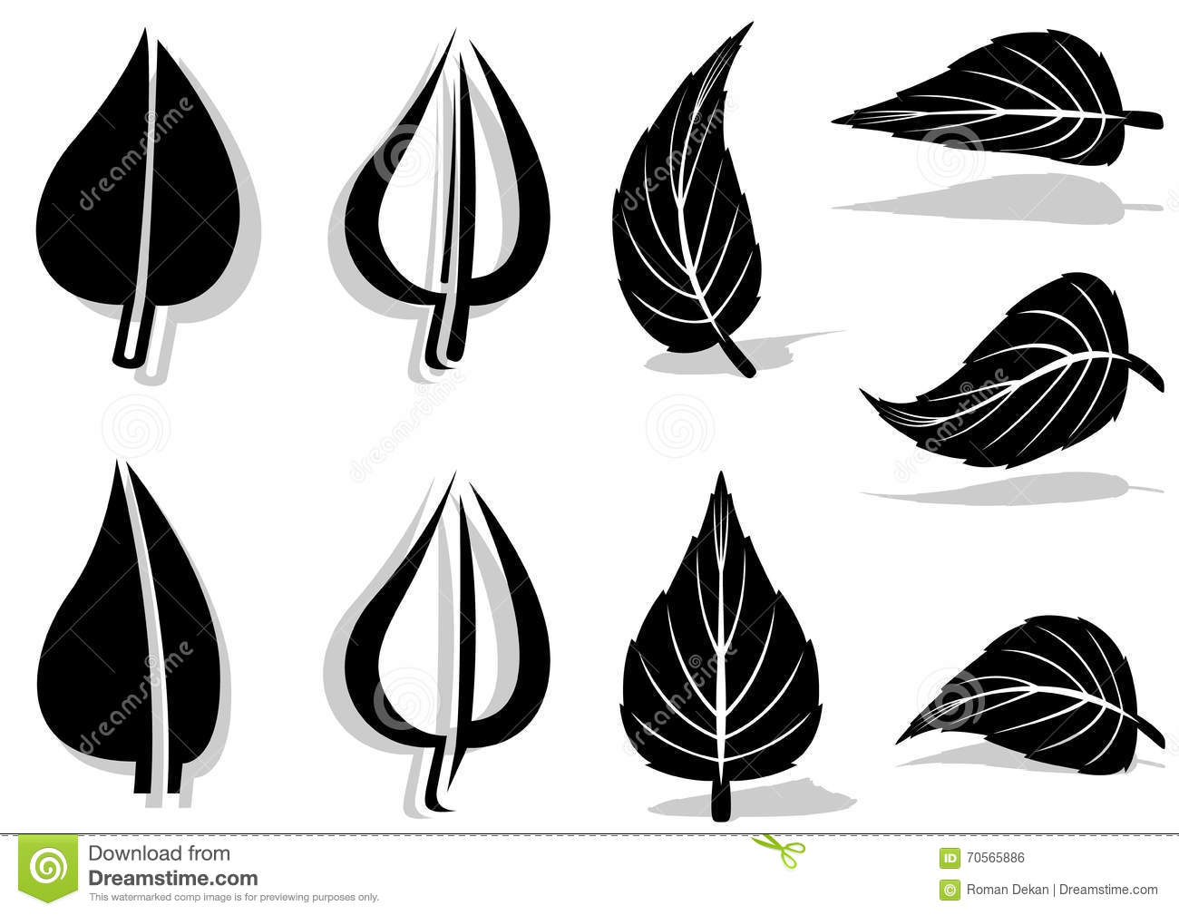 Leaf Symbol stock vector. Illustration of vector, black ...