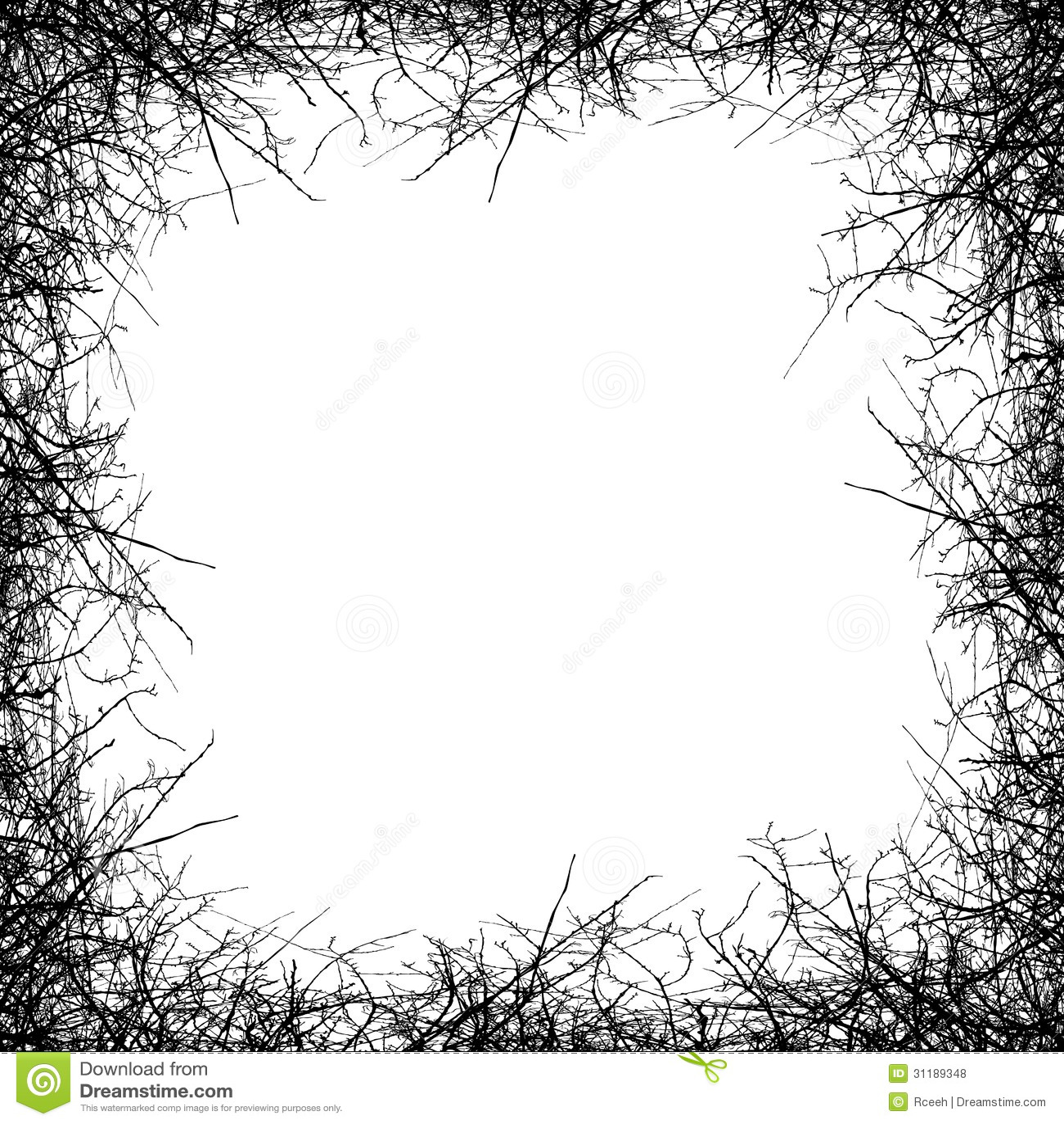 Borders Around Trees: Leafless Tree Border Stock Vector. Illustration Of Black