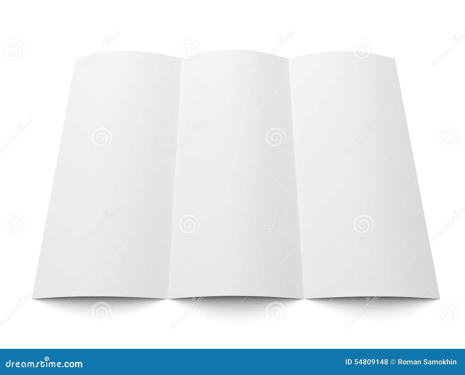 trendy tri fold brochure template design stock vector illustration