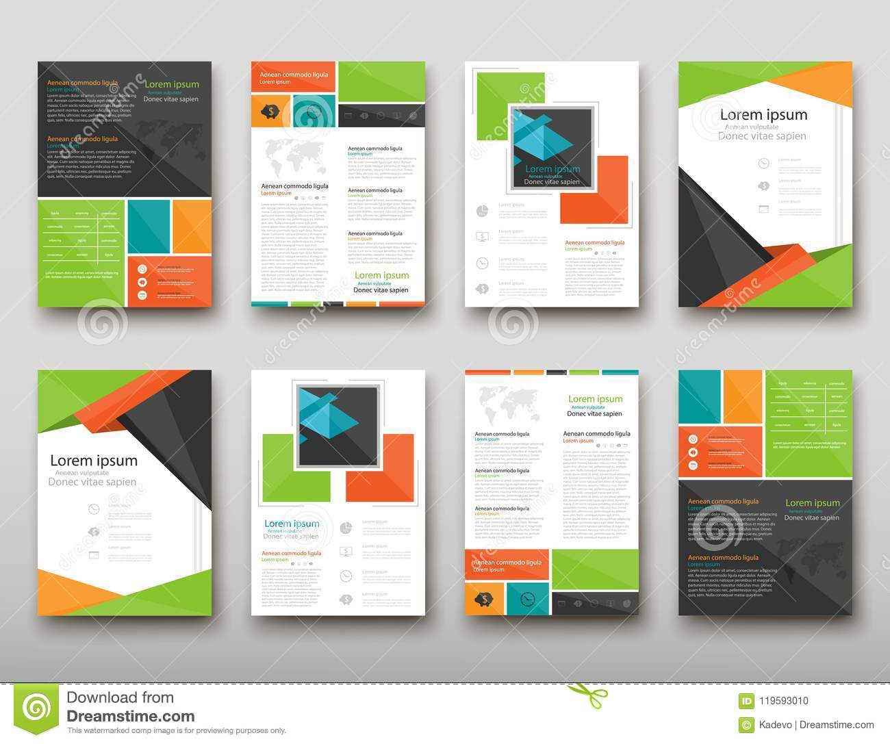 Leaflet cover presentation abstract geometric background, layout in A4 set technology brochure flyer design template