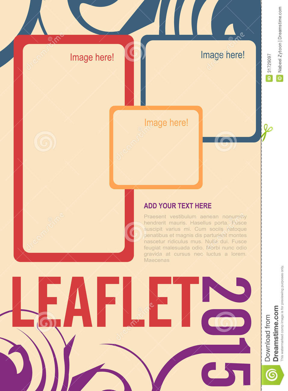 Leaflet design royalty free stock photography image Create a blueprint