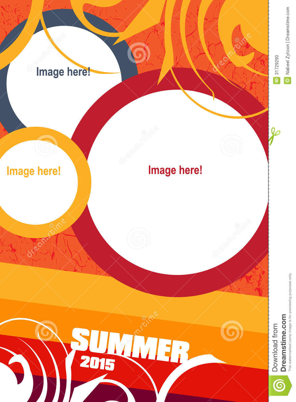 leaflet design stock photo