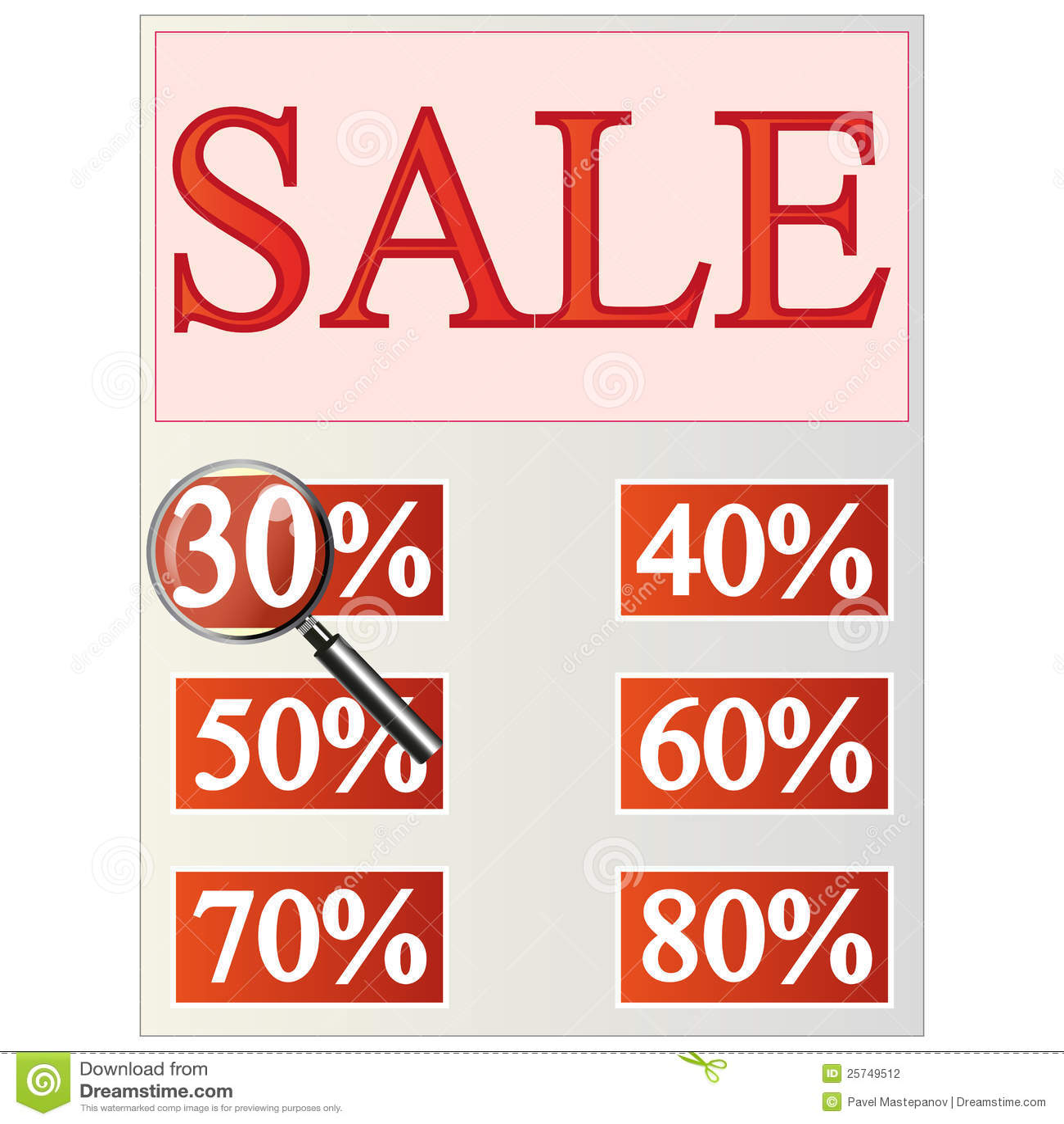 Leaflet that says Sale