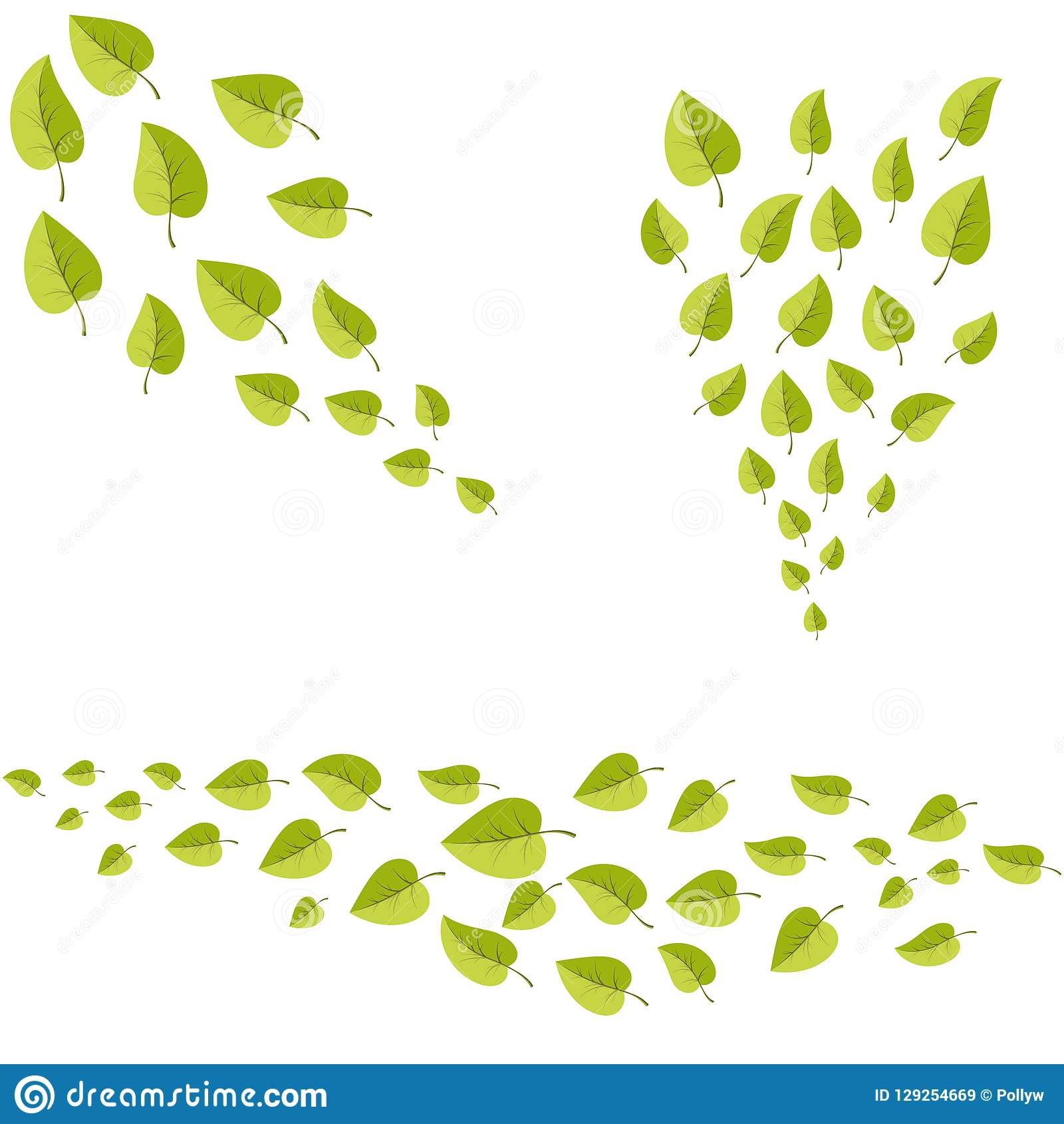 Leafs Set For Decoration For Web And Print Stock Vector Illustration Of Fresh Botanical 129254669