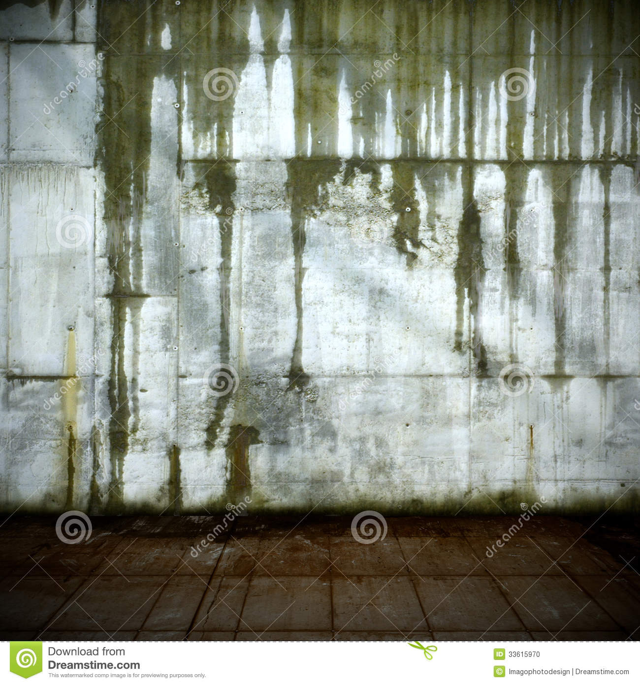 Leaking Concrete Wall
