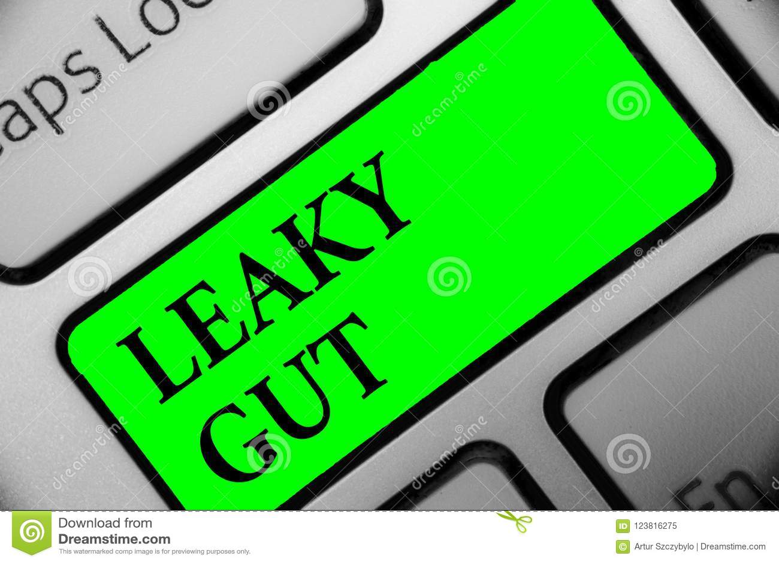 Leaky έντερο κειμένων γραφής Η έννοια που σημαίνει τον όρο Α στον οποίο η επένδυση του λεπτού εντέρου είναι χαλασμένη πληκτρολογε