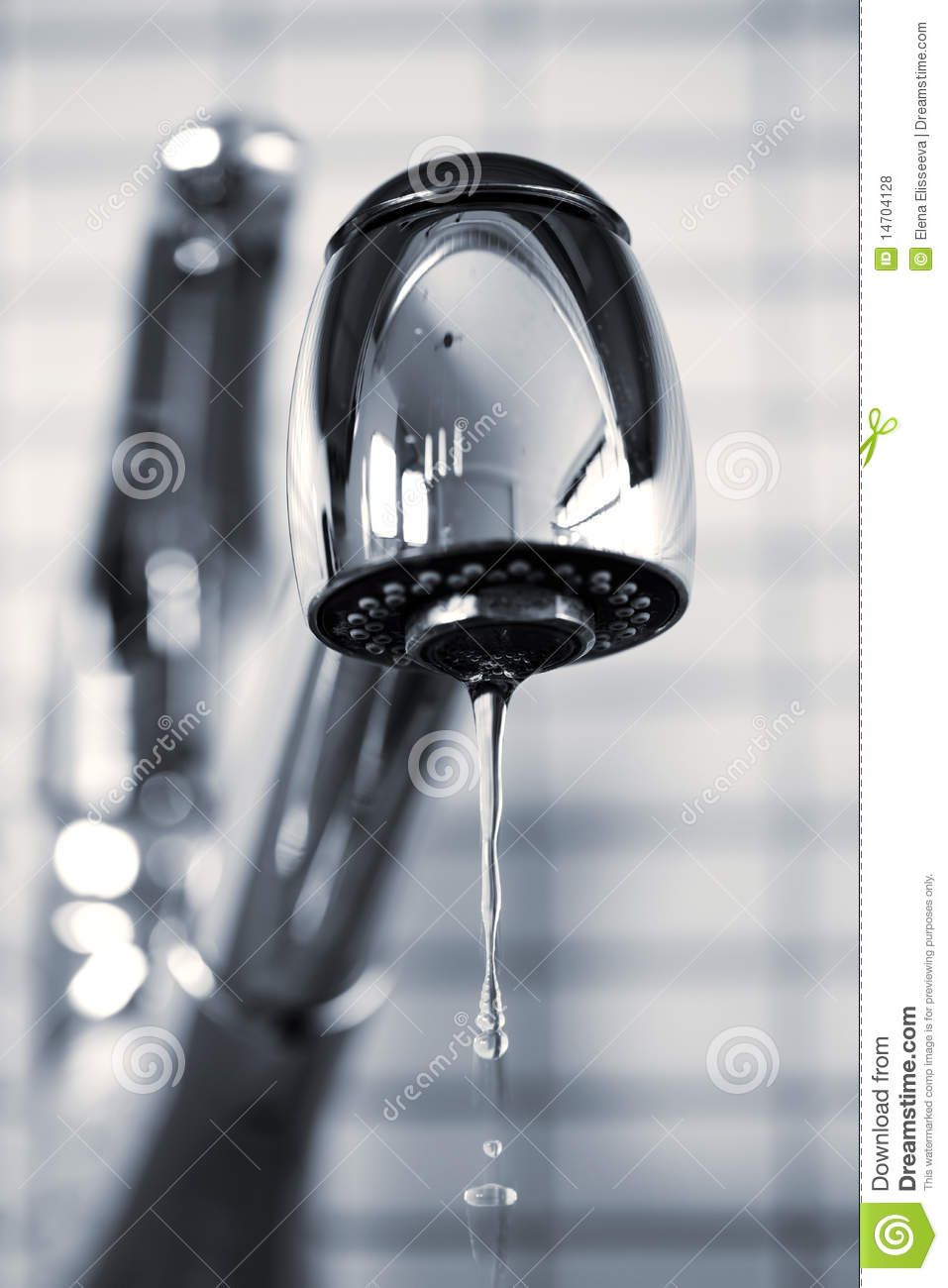 leaky kitchen faucet royalty free stock photos image