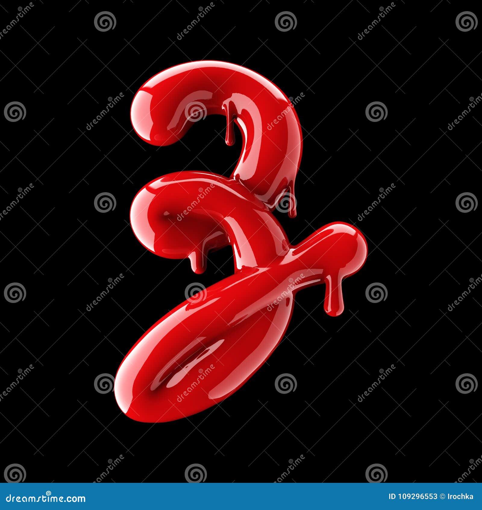 Leaky red alphabet on black background. Handwritten cursive letter Z.