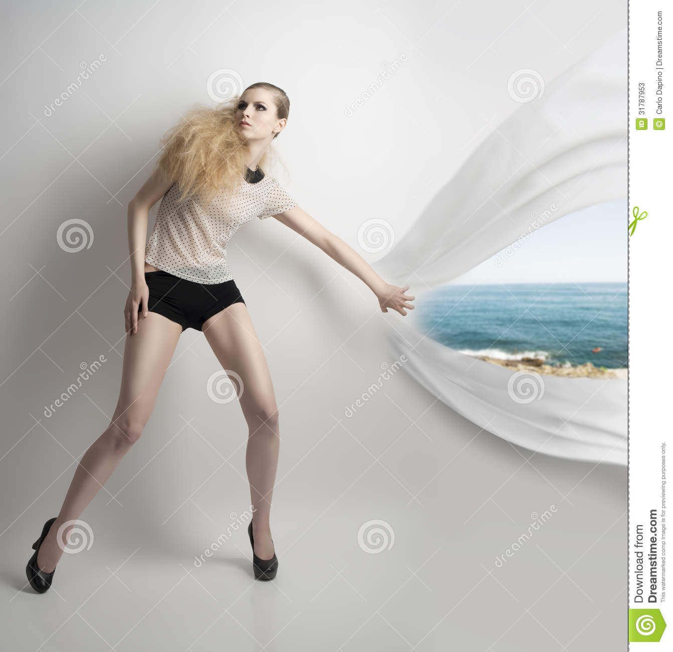 lean girl with fashion style stock photos