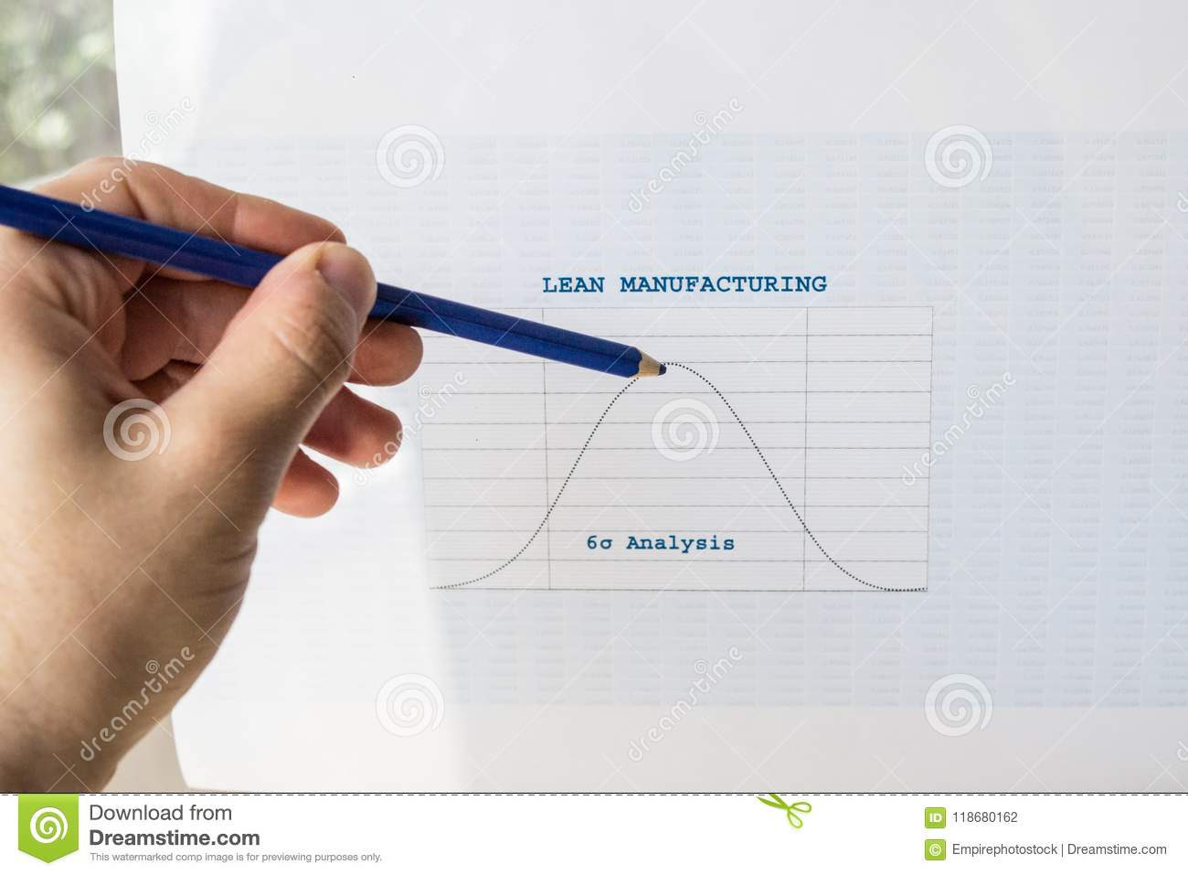 Lean Manufacturing Six Sigma Chart Stock Photo - Image of ...