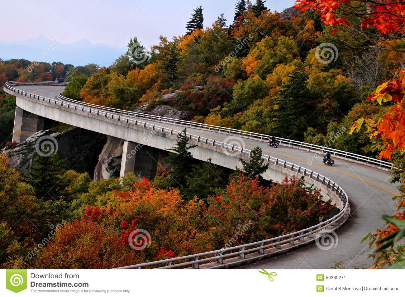 Lean In For A Ride ON Blue Ridge Parkway Viaduct