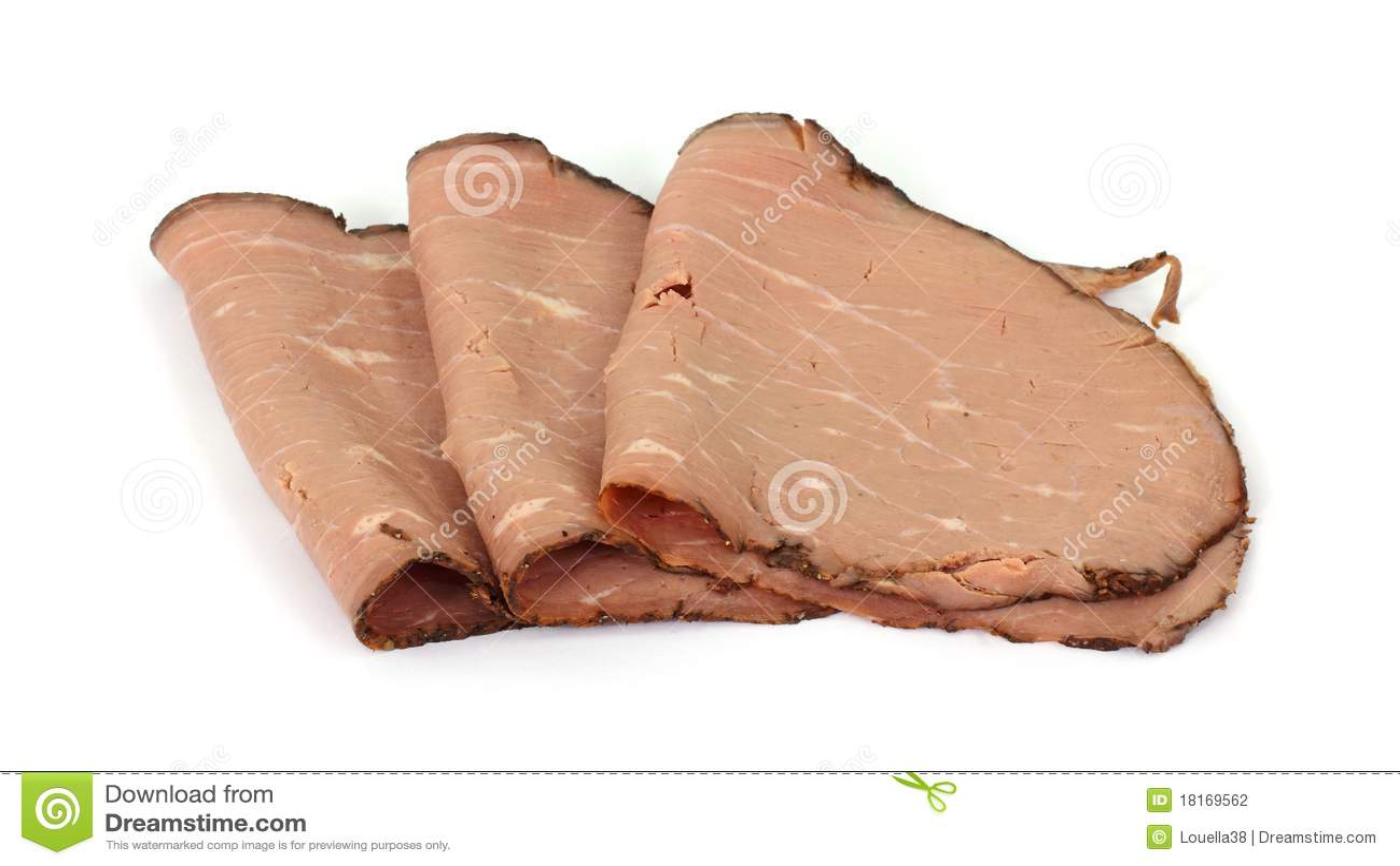 Sliced roast beef package - Lean Roast Beef Slices Arranged Stock Photography