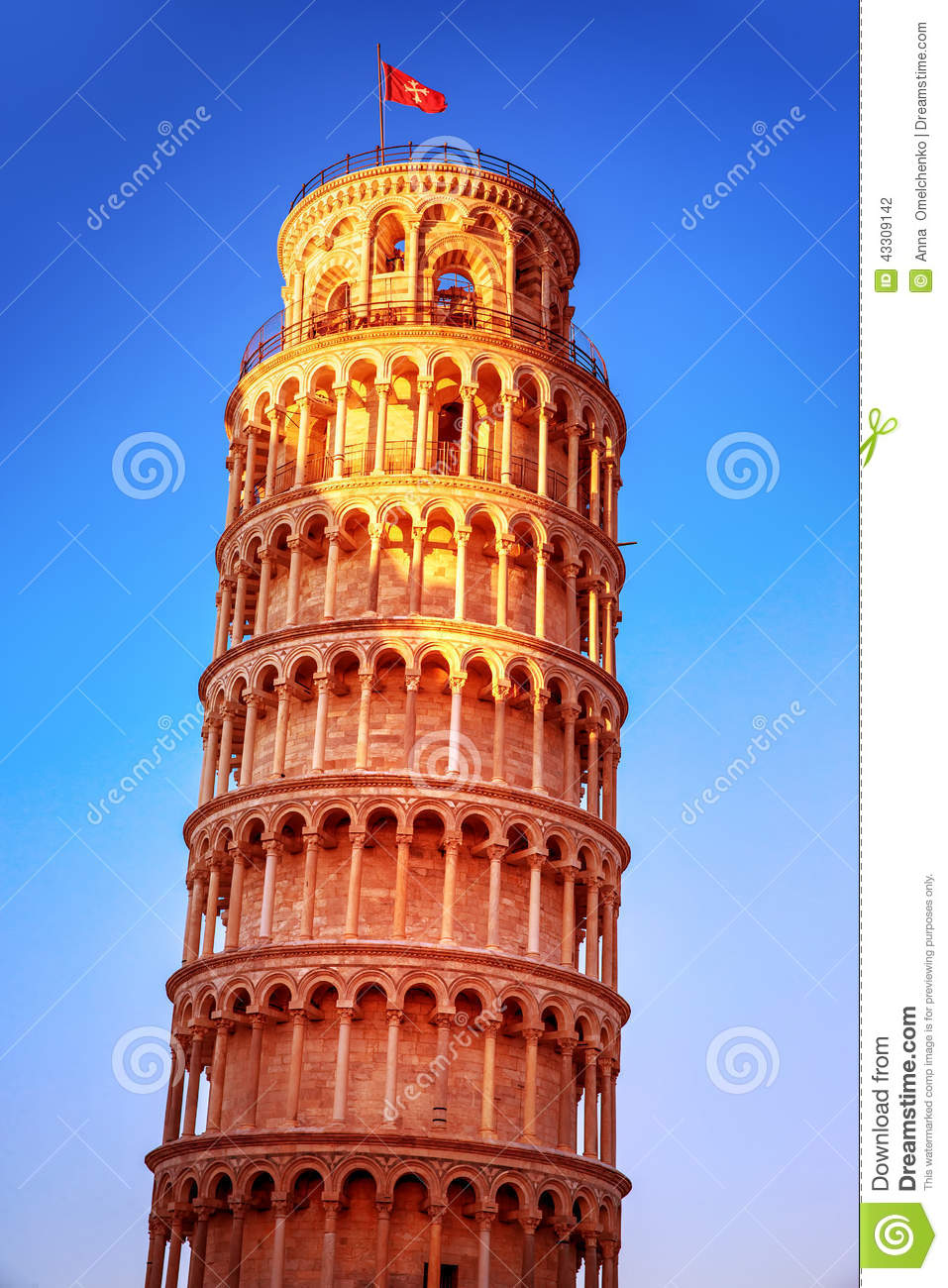 Leaning tower of pisa stock photo image of renaissance for Famous landmarks in
