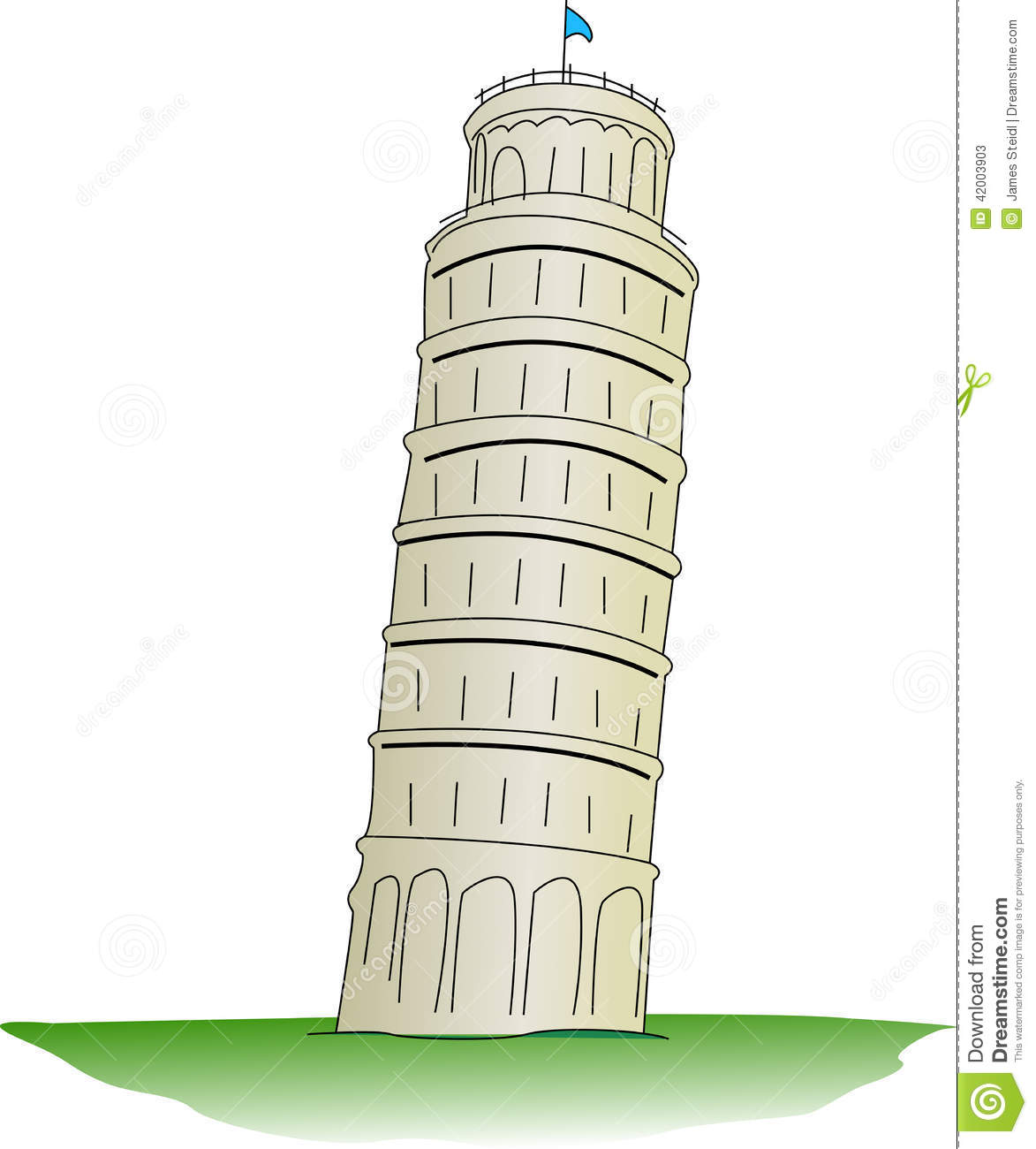 Leaning Tower Pisa Clip Art on coloring map of the united states
