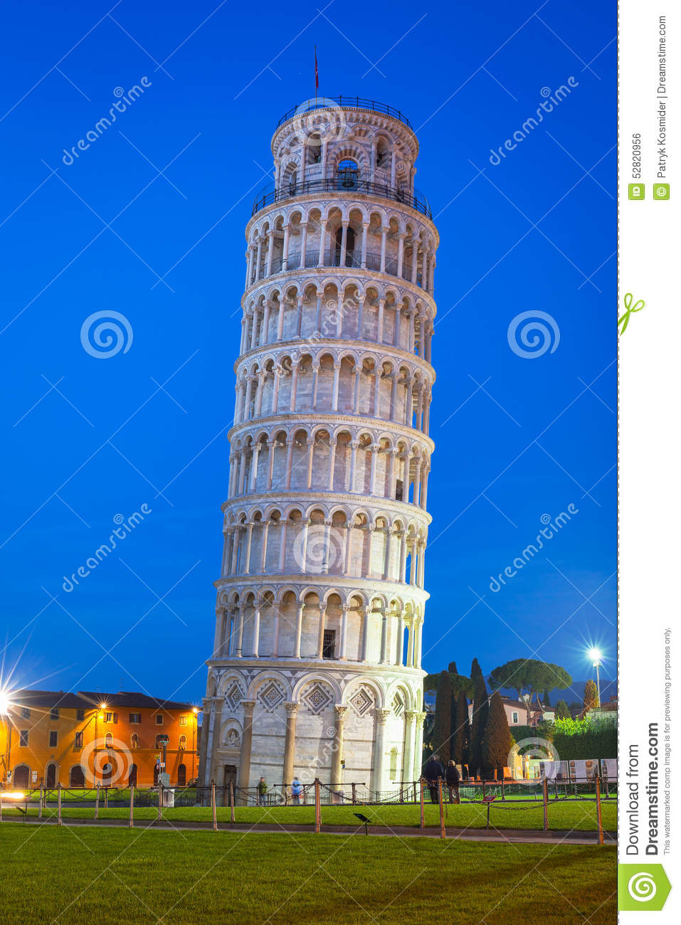 Leaning tower of pisa at night stock photo image 52820956 - Lego architecture tour de pise ...