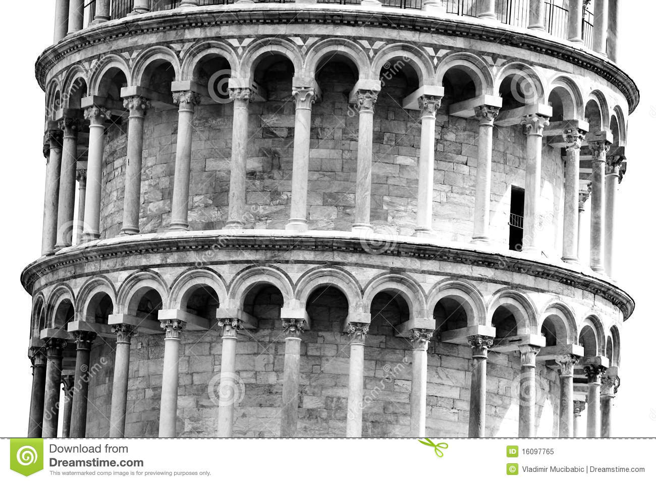 Leaning tower in Pisa, Tuscany, Italy