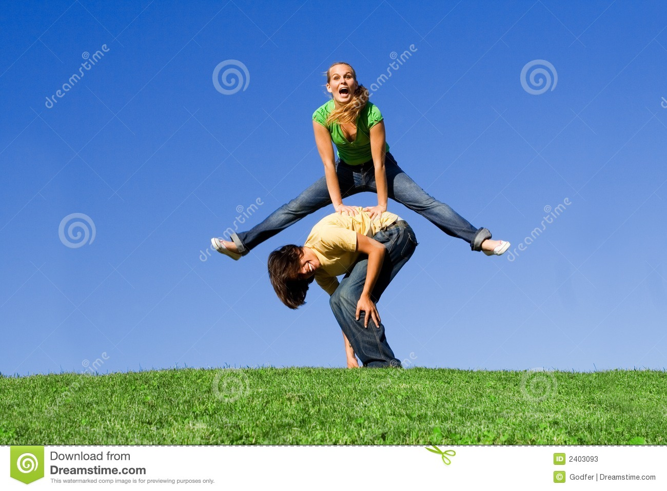 Leap Frog Happy Stock Photos Image 2403093