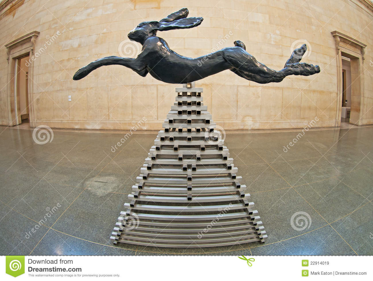Download Leaping Hare By Barry Flanagan Editorial Stock Image - Image of building, britain: 22914019