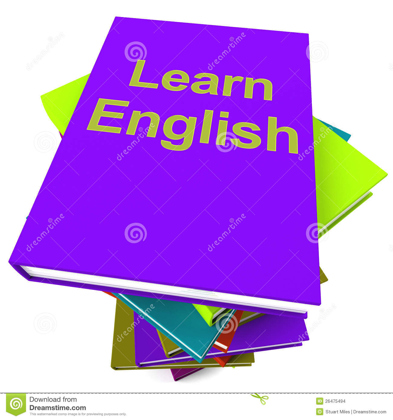 Learn English Book For Studying A Language Stock Images - Image ...