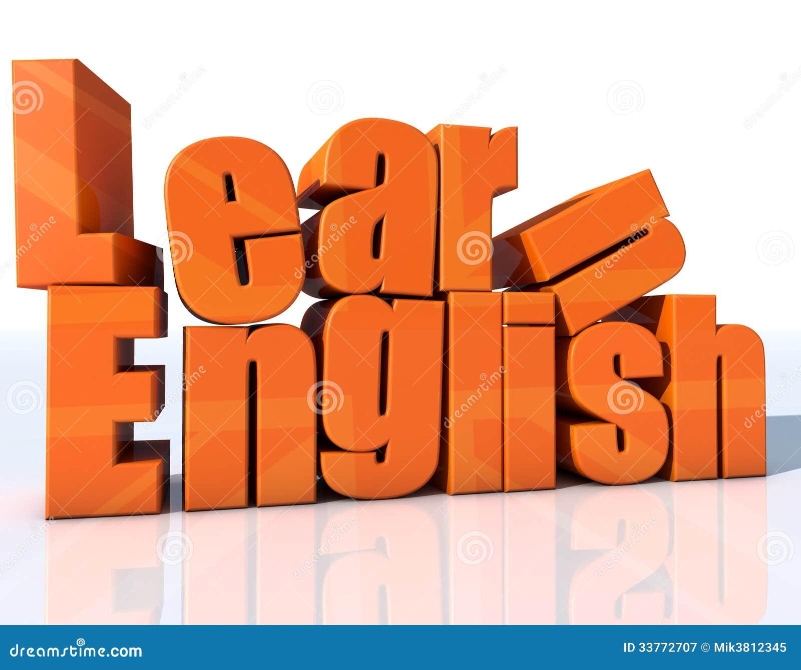 Learn english stock illustration. Illustration of ...