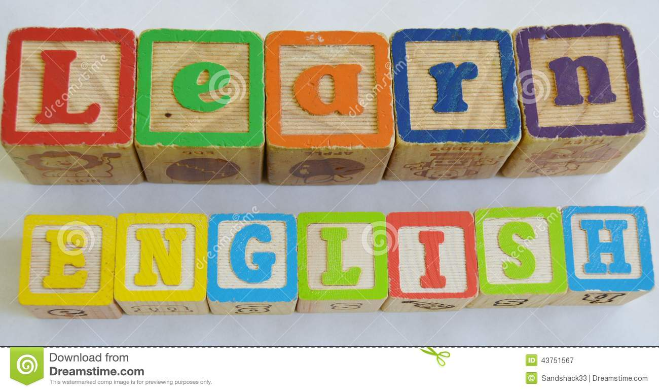 english learn language esl learners second blocks spell colorful perfect royalty clipart reading dreamstime