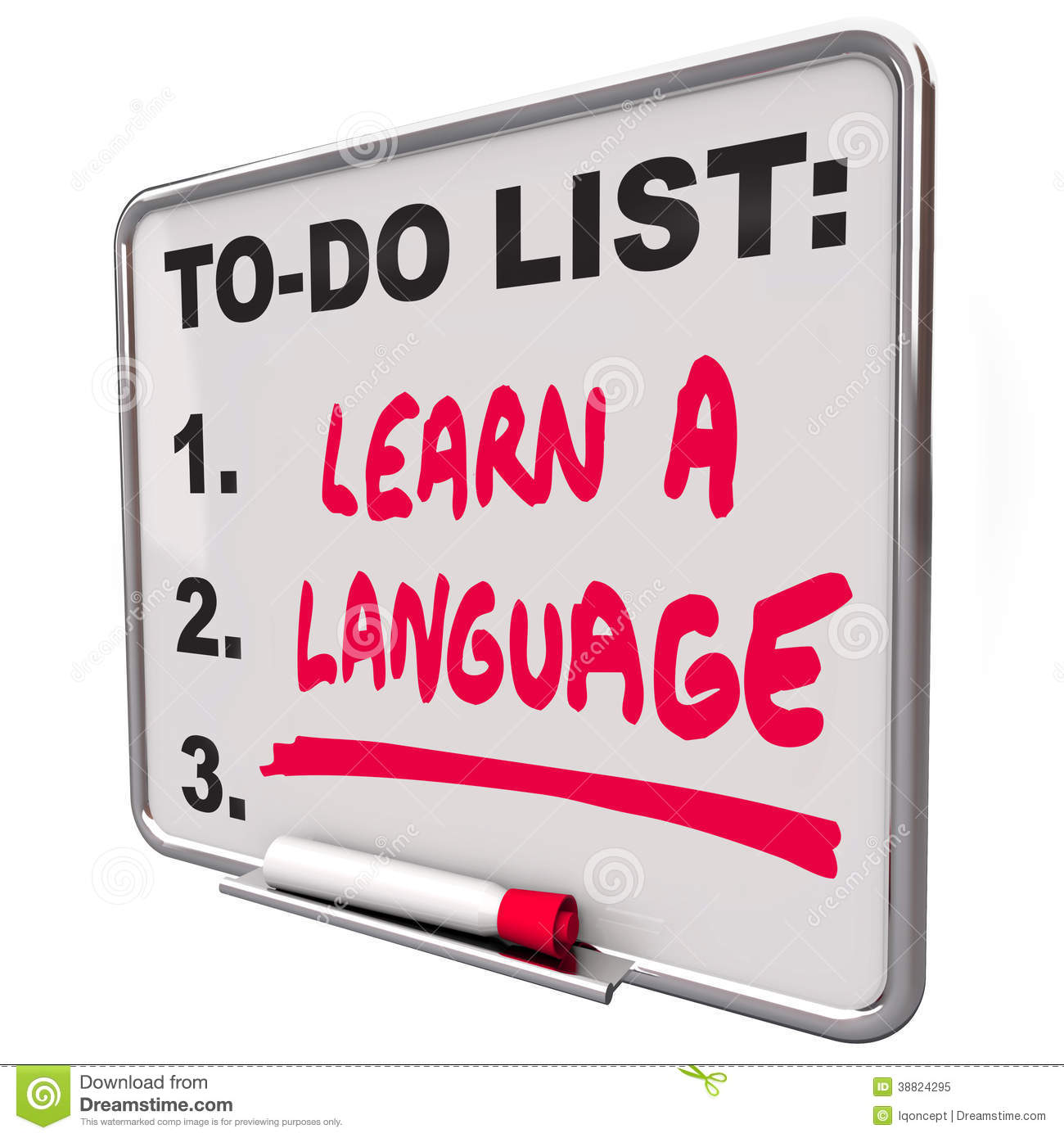 Learn A Language To Do List Foreign Dialect Stock ...