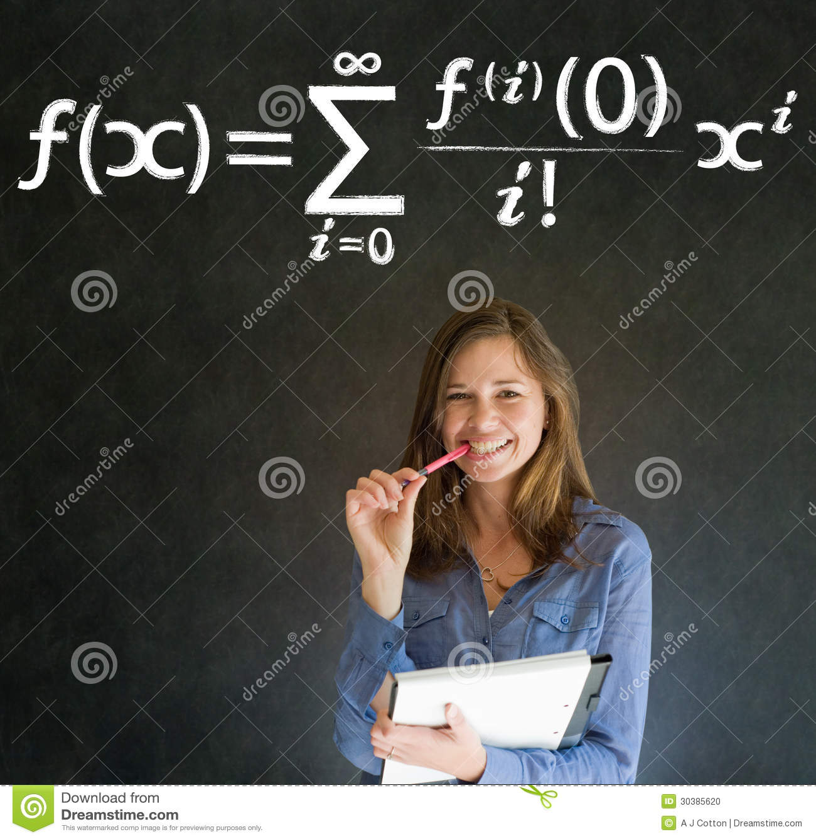 Learn Math Or Maths Teacher With Chalk Background Stock Photo ...