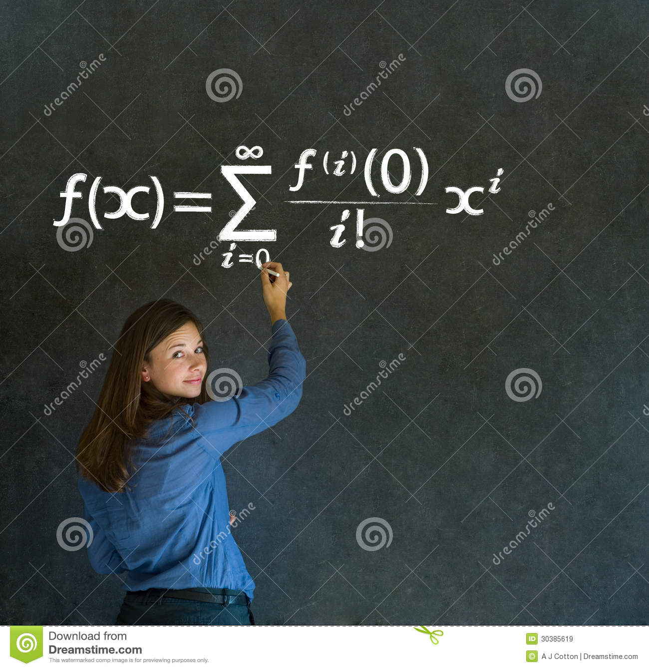 Learn Math Or Maths Teacher With Chalk Background Royalty