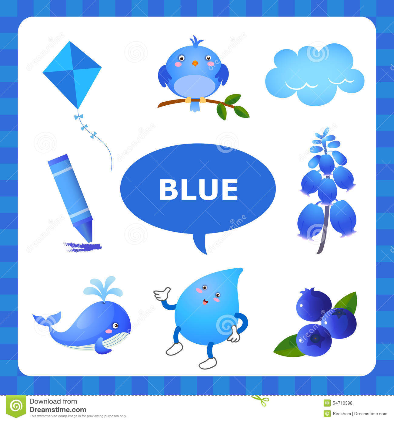 Learning Blue color stock vector  Illustration of colour - 54710398