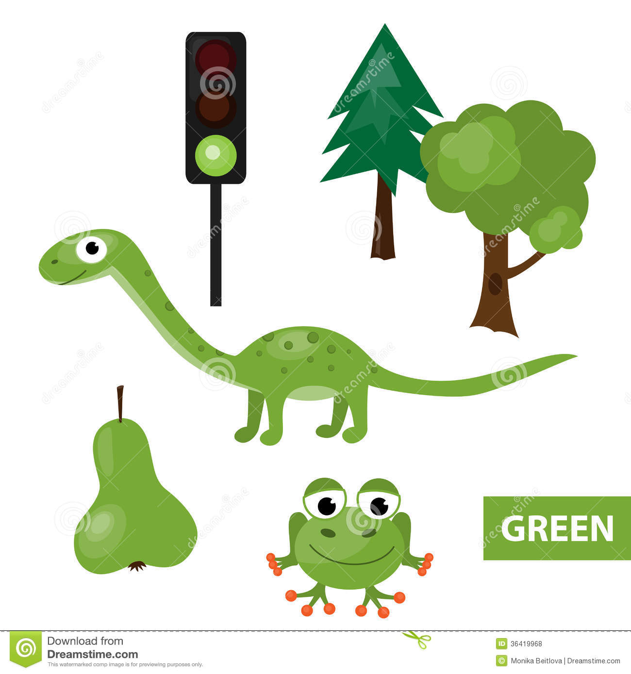 Things that are green in color