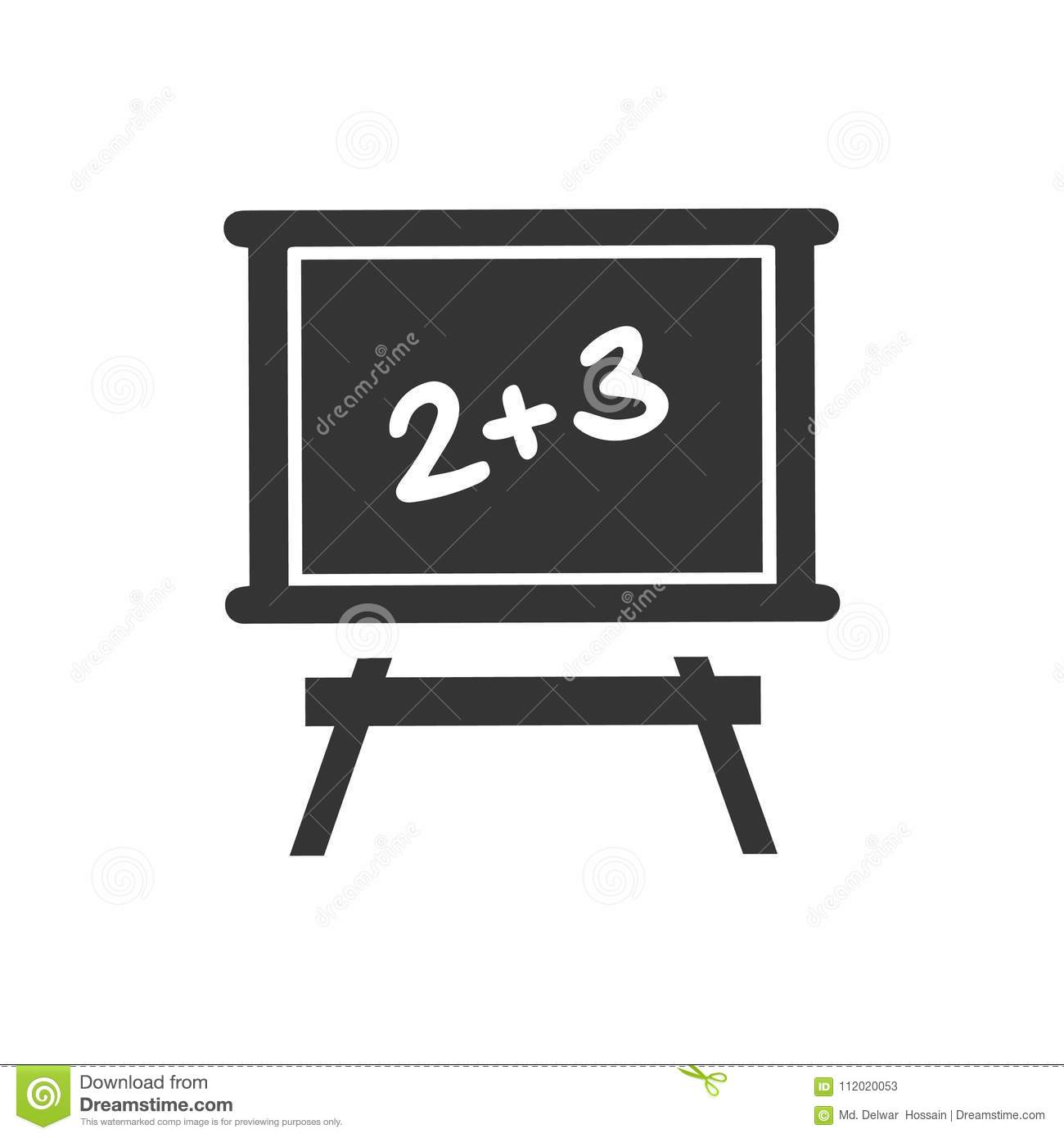 Learning Math Icon stock vector. Illustration of sign - 112020053