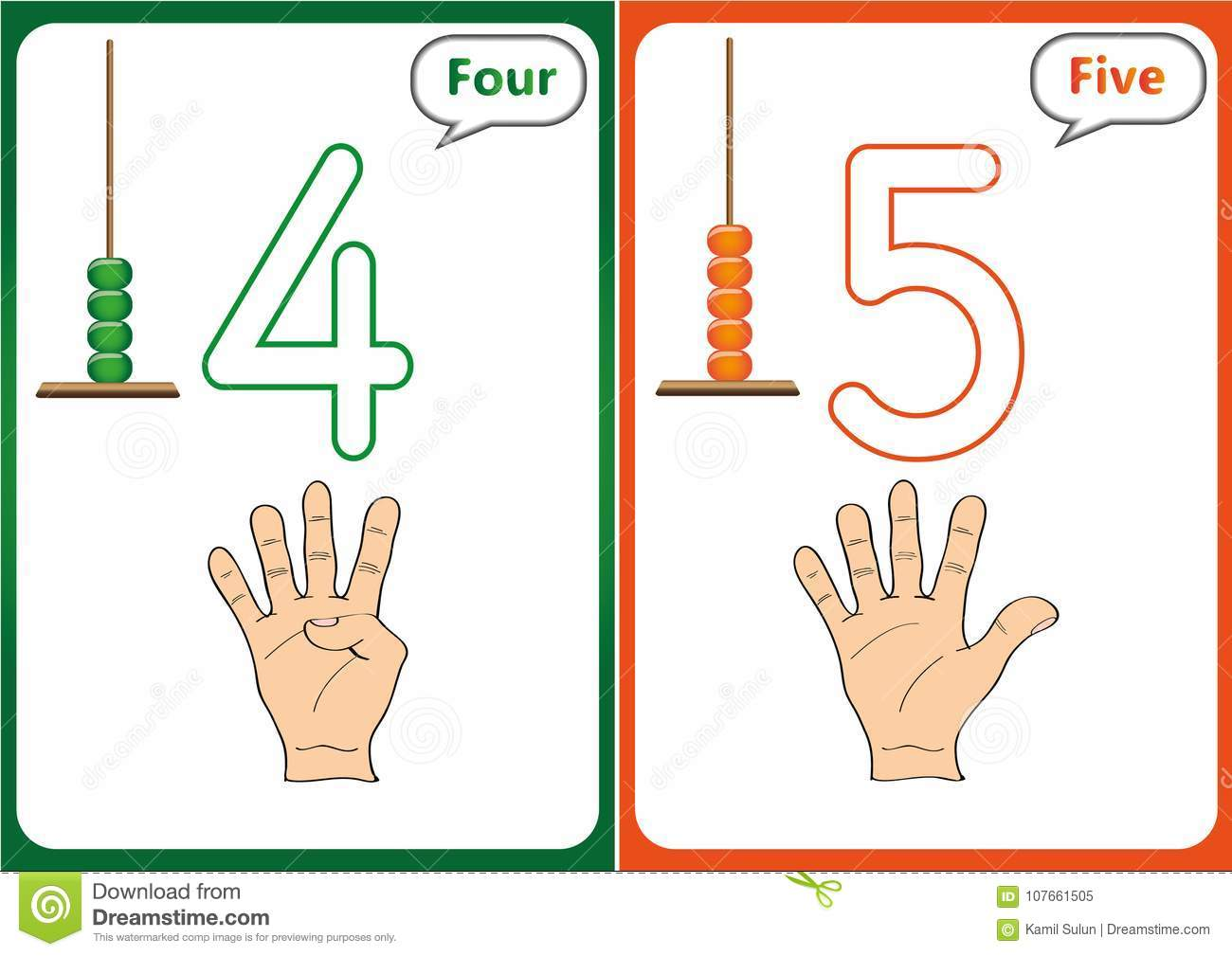 Learning The Numbers 0 10 Flash Cards Educational Preschool