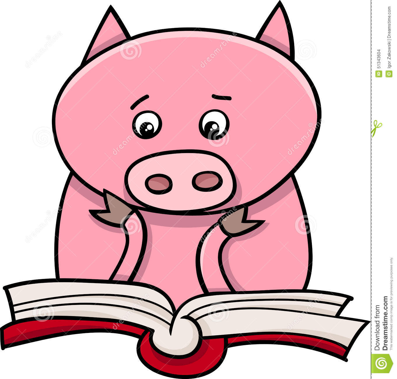 learning piglet cartoon illustration stock vector image court clipart free court clip art pictures