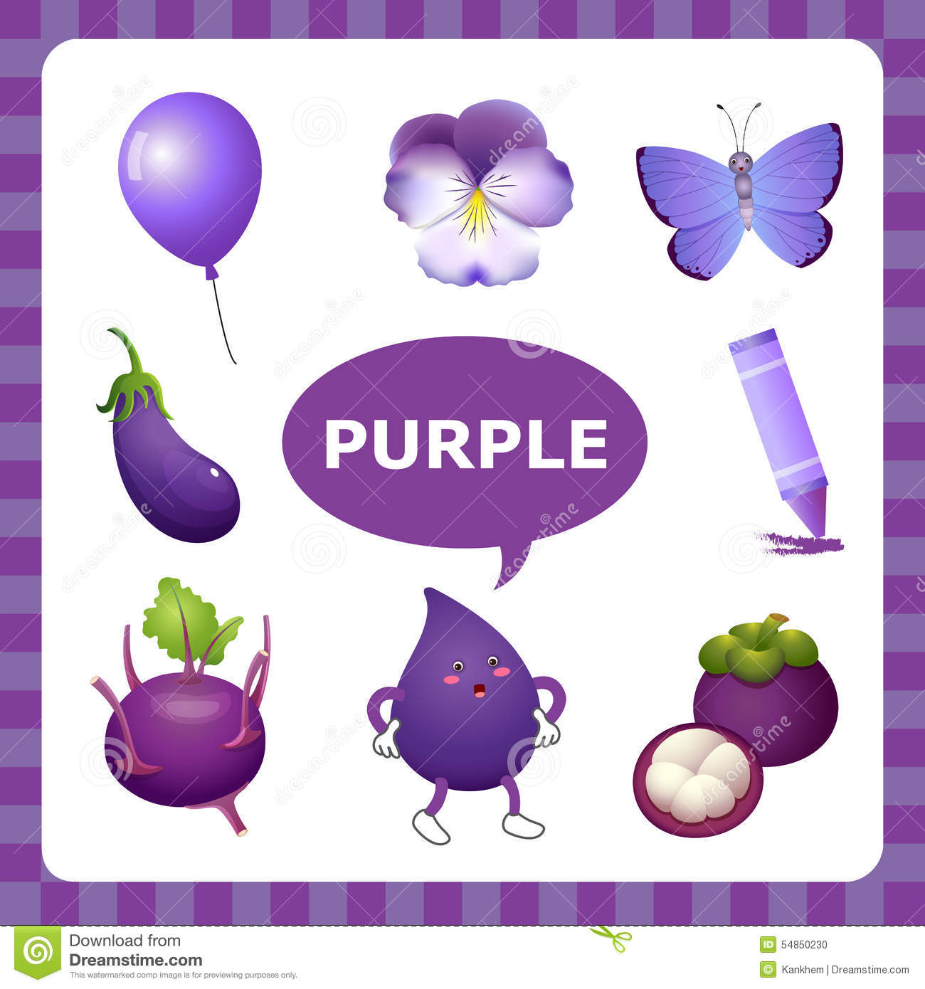 Learning Purple Color Stock Vector Image 54850230