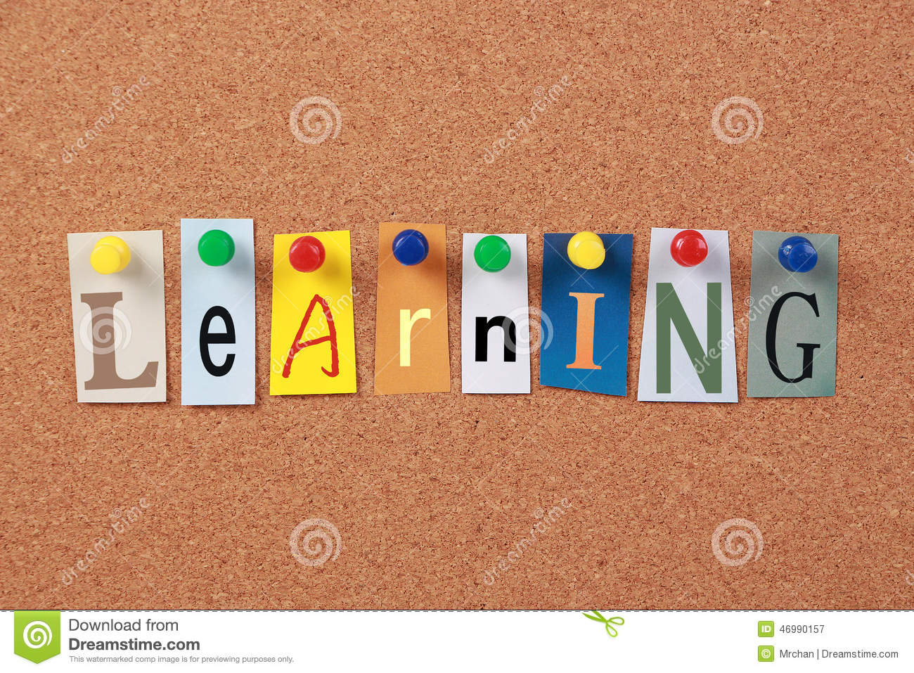 Learning Single Word stock image. Image of children
