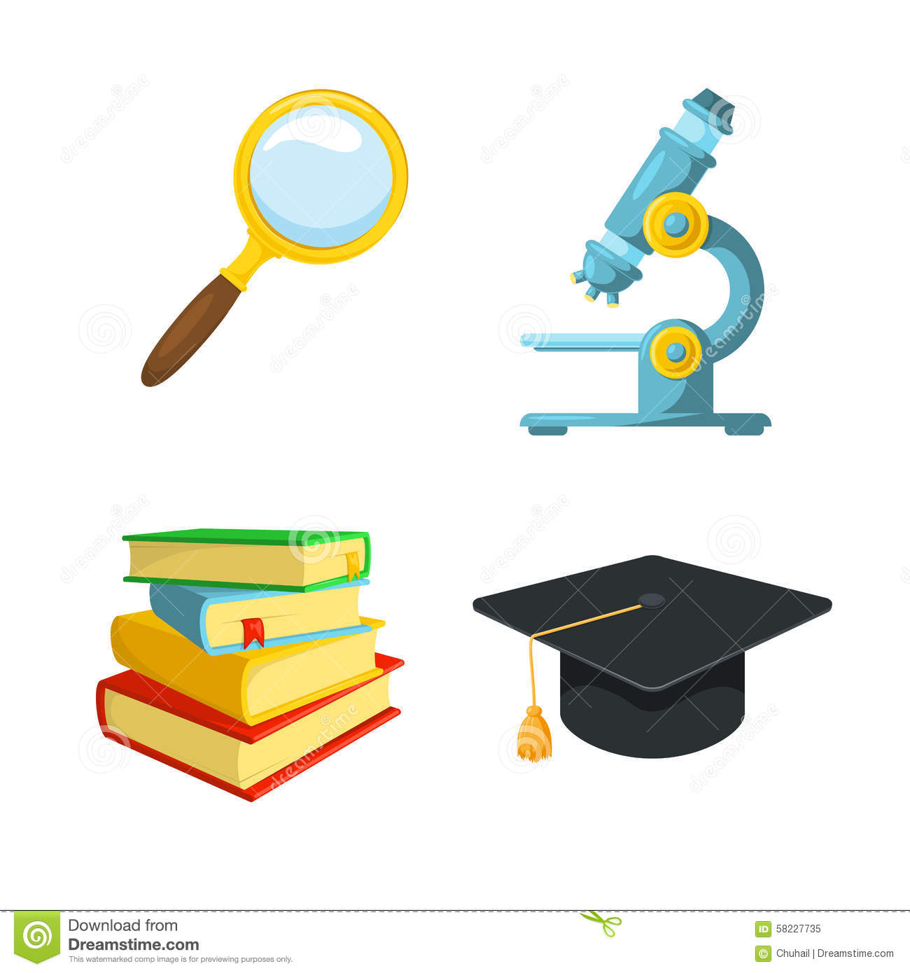 learning symbols stock vector image of student research