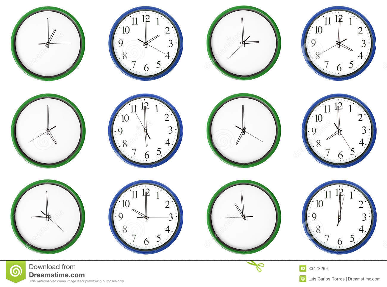 worksheet Learning Time learning time pair numbers blue royalty free stock images blue