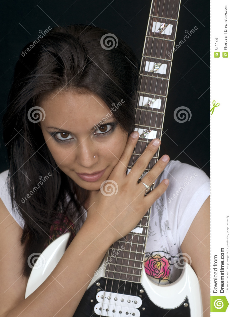 learning to play the guitar stock image image of learn play 6180441. Black Bedroom Furniture Sets. Home Design Ideas