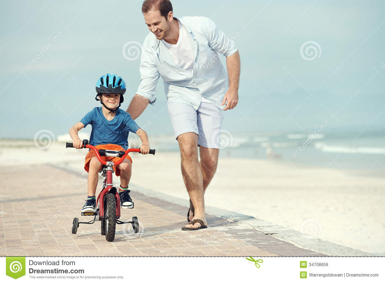 Learning To Ride A Bike Stock Image Image Of Healthy